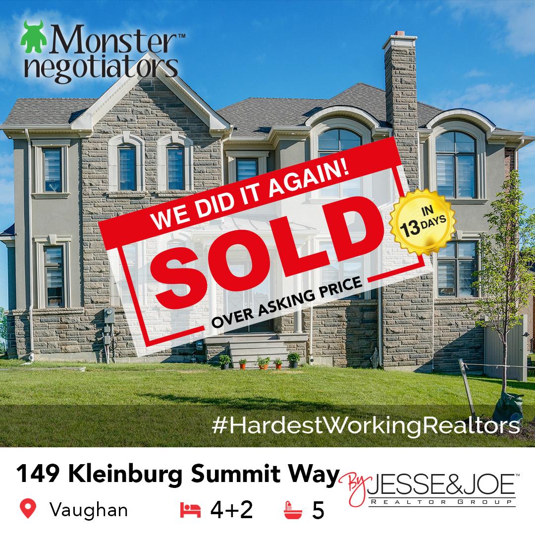 149 Kleinburg Summit Way Sold!