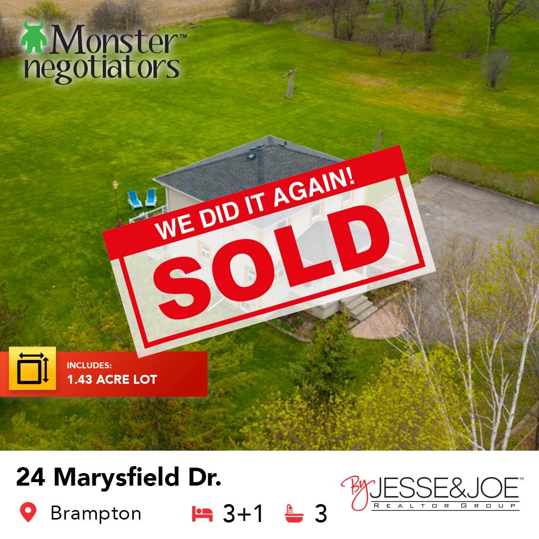 24 Marysfield Drive, Brampton Sold!