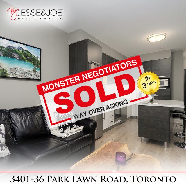 36 Park Lawn Rd unit 3401 Sold!