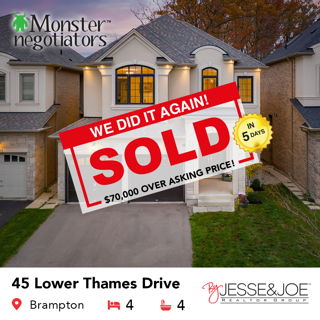 45 Lower Thames Drive Sold!