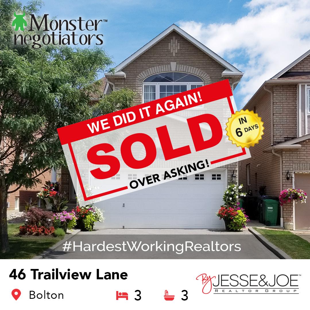 46 Trailview Lane, Bolton Sold!