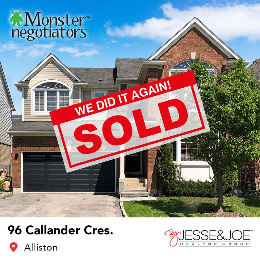 96 Callander Cres Sold!