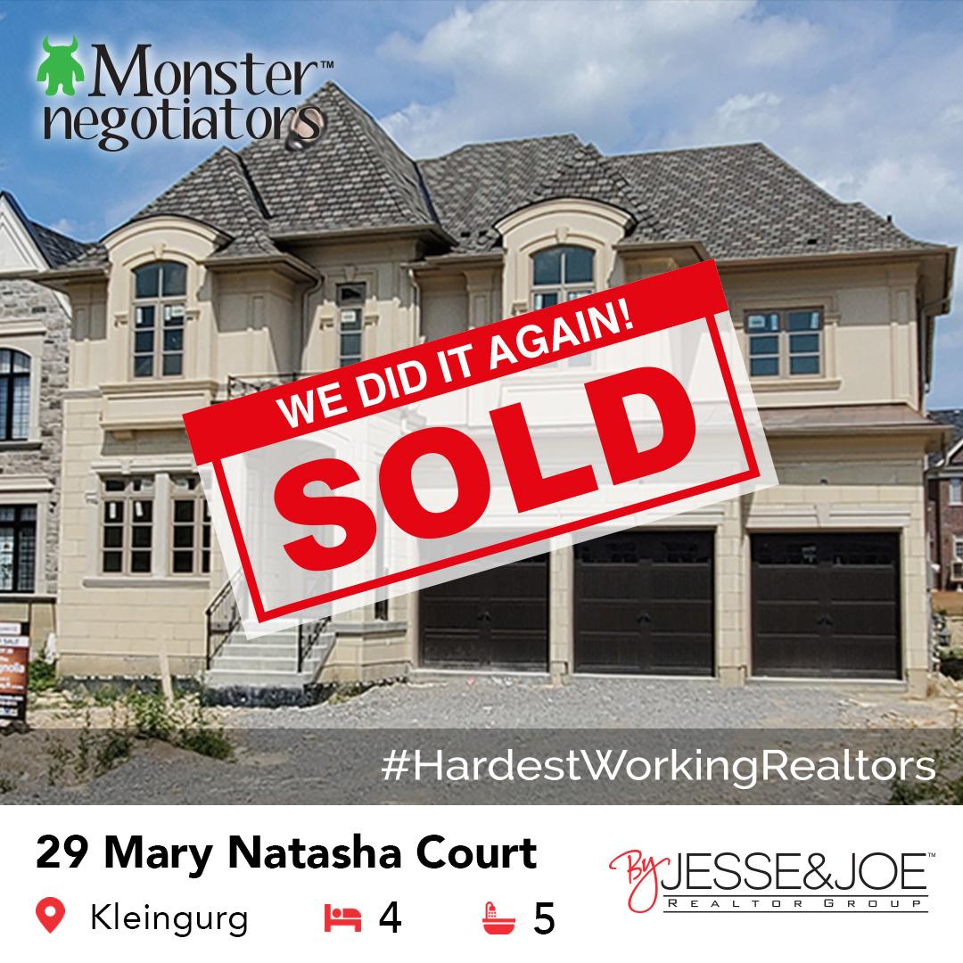29 Mary Natasha Court Sold!